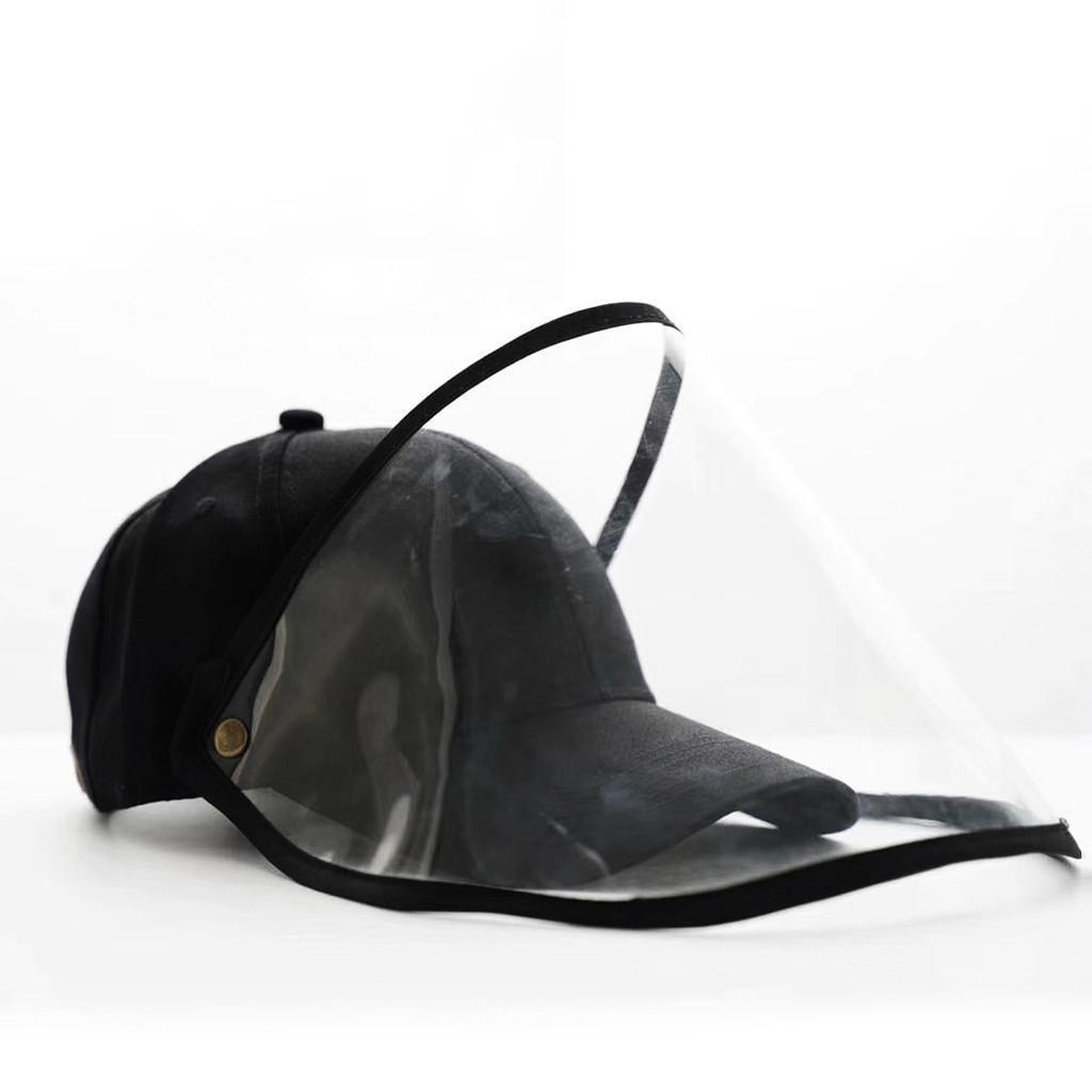 Proteção de face, com chapéu Limpar Flip Up Segurança face da tampa Máscara de Protecção Anti Spitting Saliva completa Rosto Escudo Visor DHA390
