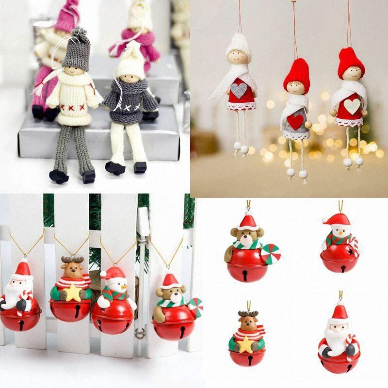 С Рождеством украшения Рождественский подарок Санта-Клаус снеговика дерева игрушки куклы Висячие Xmas украшения Для дома Дети Подарочные Подвески nfGJ #