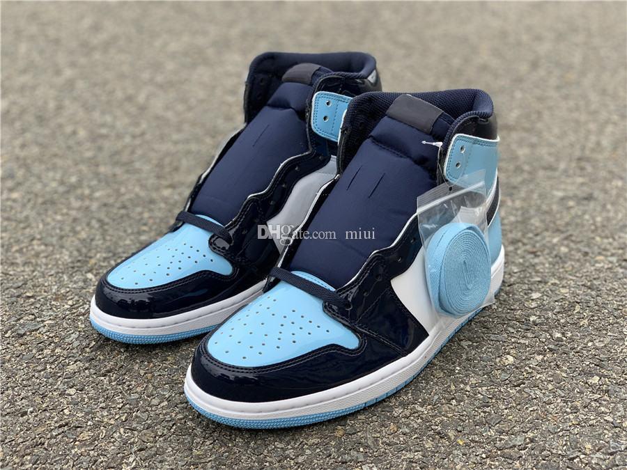 2020 Shoes 1 High OG Obsidian basquete masculino do Pólo Norte Chicago Sports Sapatilhas Toe Mulheres Turbo Verde Branco Bio corte Preto Azul Amarelo