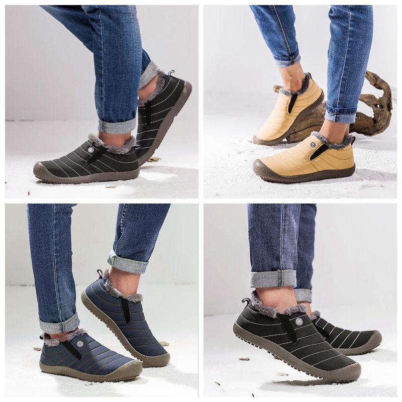 أحذية أحذية الثلج قديم بكين القطن شتاء الرجل سميكة بوتاس الأحذية عدم الانزلاق الجوارب شقة والمسنين كلاسيكي الدفء عادية أحذية CGY281