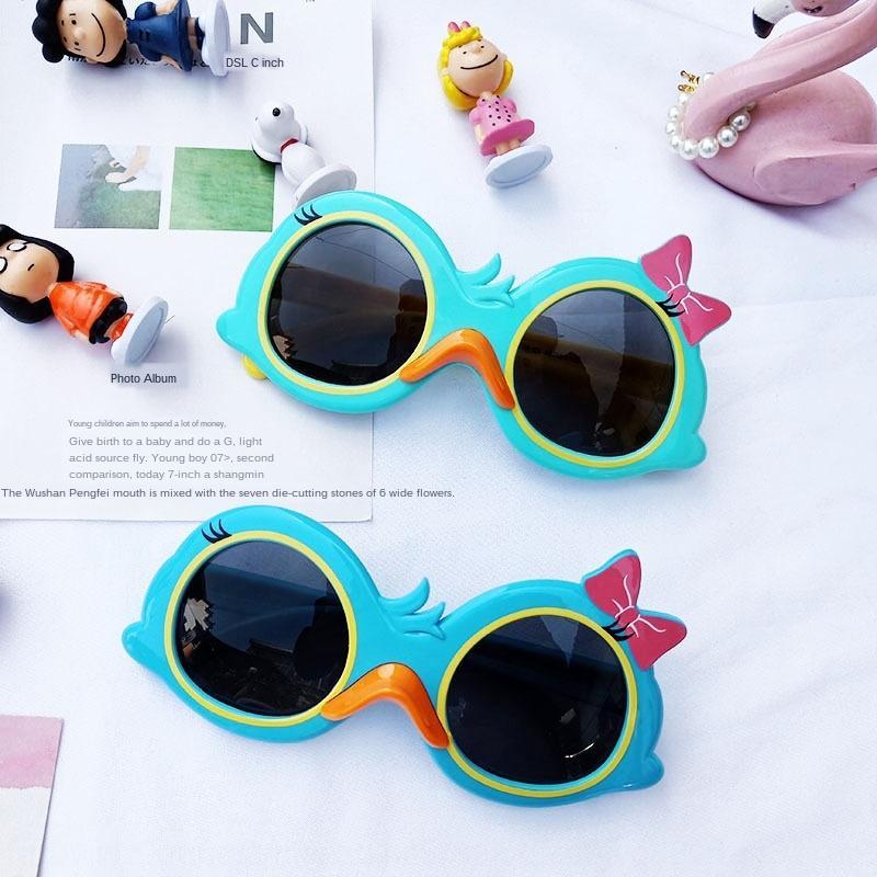 2020 dessin animé enfants de canard polarisés lunettes anti-UV de silicone de mode soleil silicone pour les garçons et les filles enfants lunettes de soleil