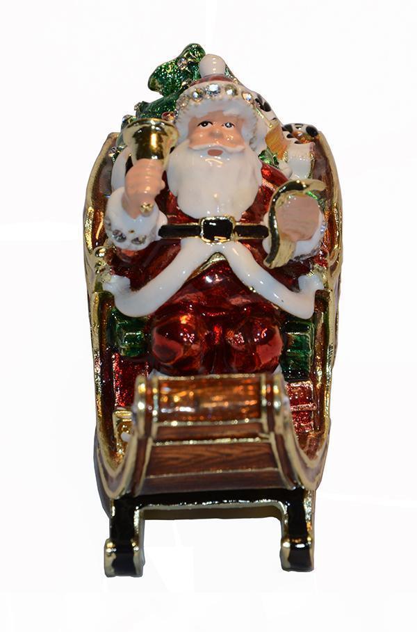 Vintage Dekoration Weihnachten Vater jewerly Schmuckstück Ring-Box Weihnachtsschmuck Geschenk Halskette Halter