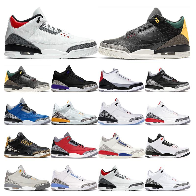 Los nuevos Mens Zapatos de la zapatilla de baloncesto del equipo universitario real fuego Corte Red Animal púrpura UNC Negro cemento blanco deportes zapatillas de deporte de la moda al aire libre