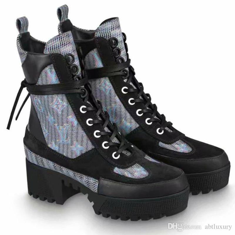 Sapatos Hot Mulheres Botas Sapatos Inverno Chaussures De Femme Sapatos senhora Bottes Vintage Femmes forma das mulheres Tipo Laureate Platform Desert Bota Sa