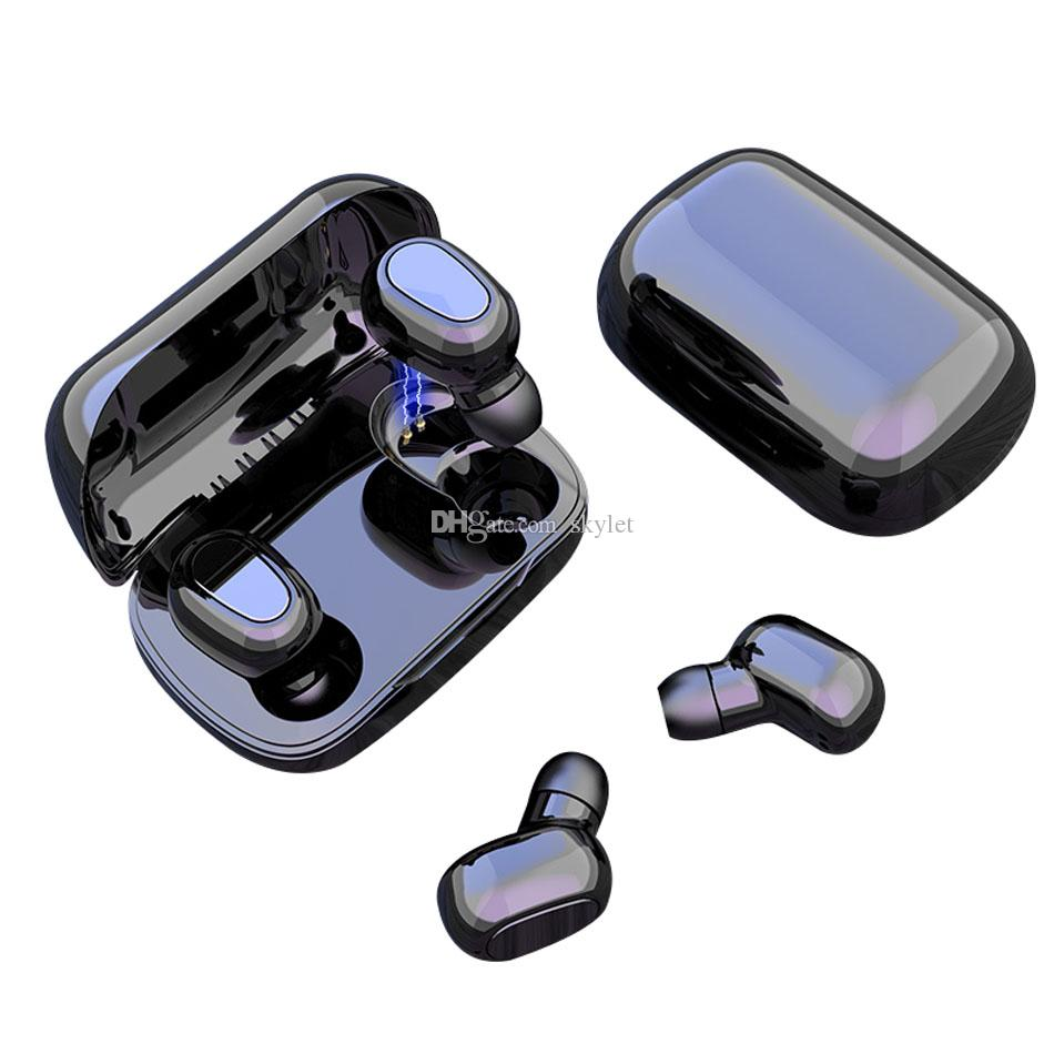 L21 Bluetooth Earphones TWS Wireless Earbuds Waterproof Headphones HIFI Sounds with Microphone Noise Cancelling in Box