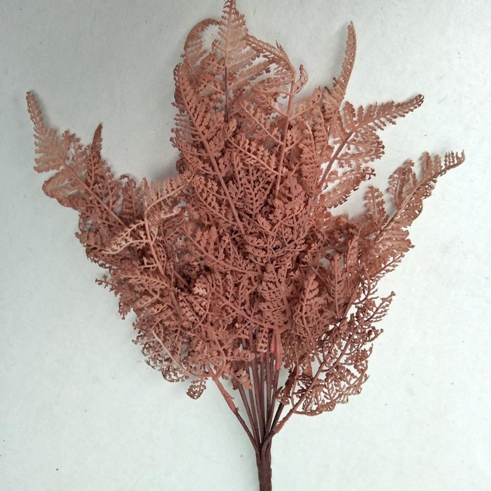 1 Adet 13 kafa Yapay Boston Fern Plastik Suni İpek Renkli Bitkiler Sahte Yapraklar Craft Sahte Yeşillik Ev Dekorasyon