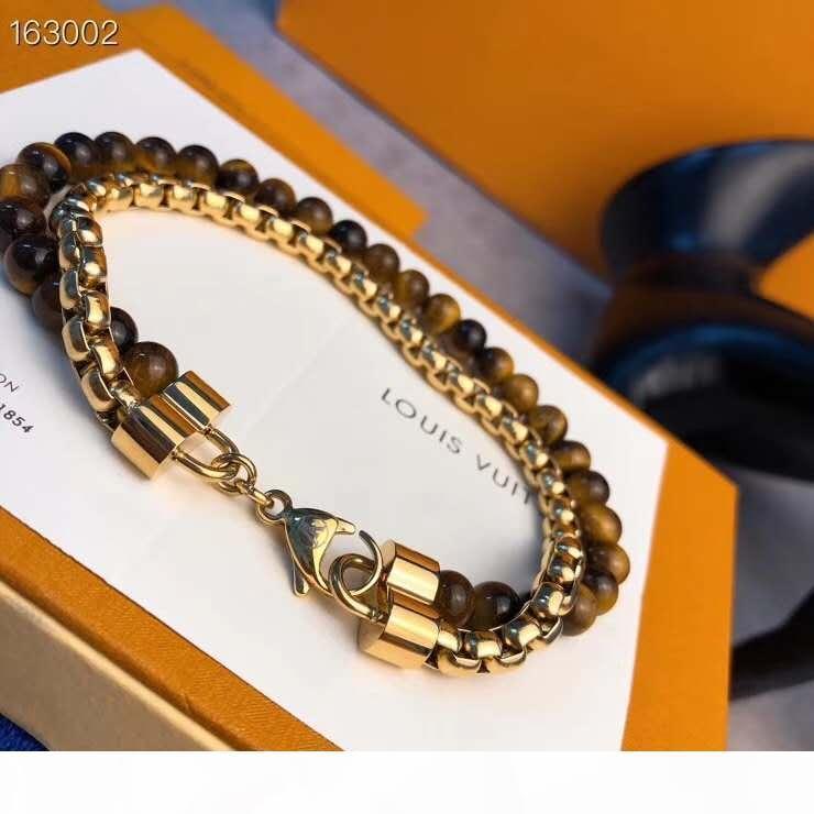 E européenne et américaine de la mode Hot vente Men '; S Bracelet 2020 Designer Style Hot Trendy Men'; S Obsidian Bracelet