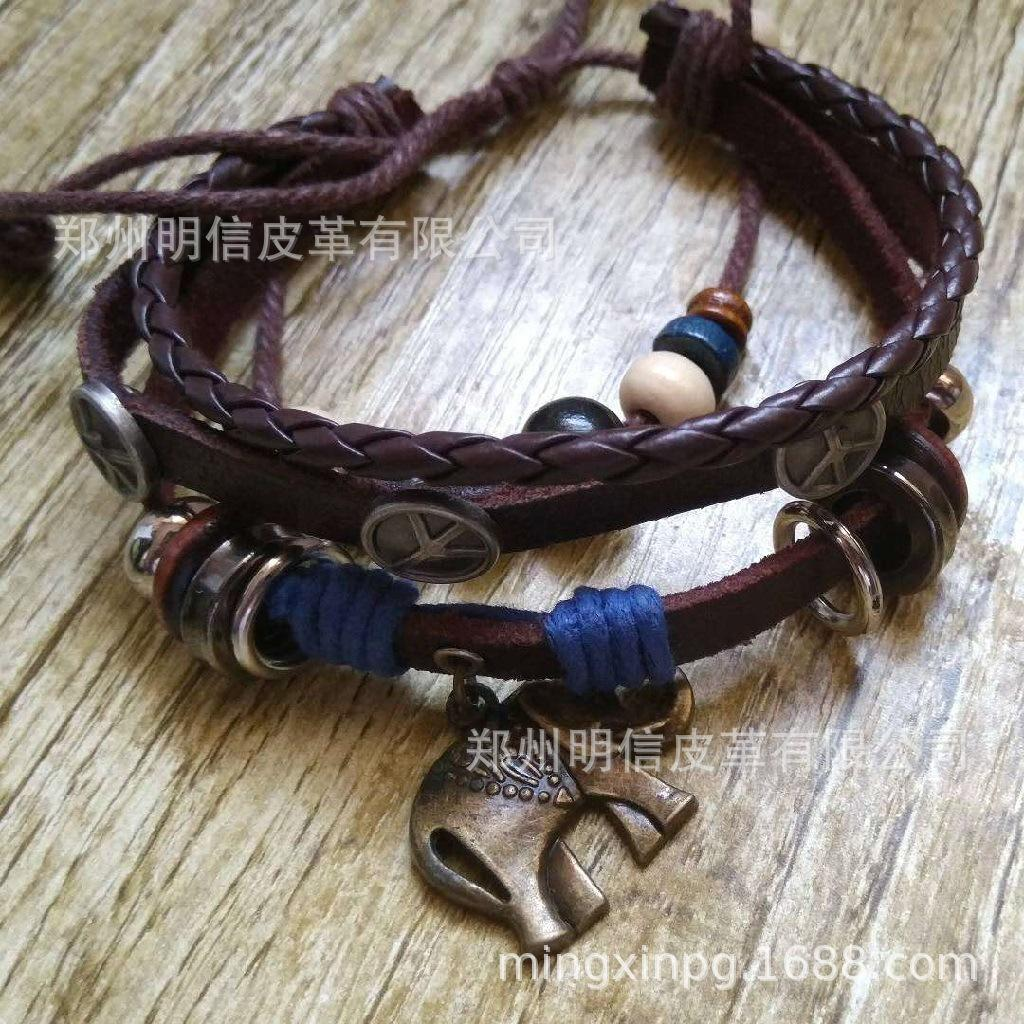 Customized DIY Armband Leder einfach retro Armband Mode Leder Großhandel