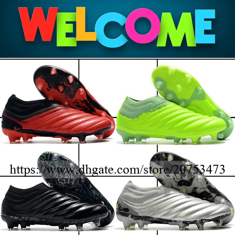Copa 20 Fg Mens Leather Football Shoes Soccer Cleats High Quality Firm Ground Outdoor Laceless Trainers Low Football Boots Track Shoes For Kids Kid Running Shoes From Brand Office 51 27 Dhgate Com