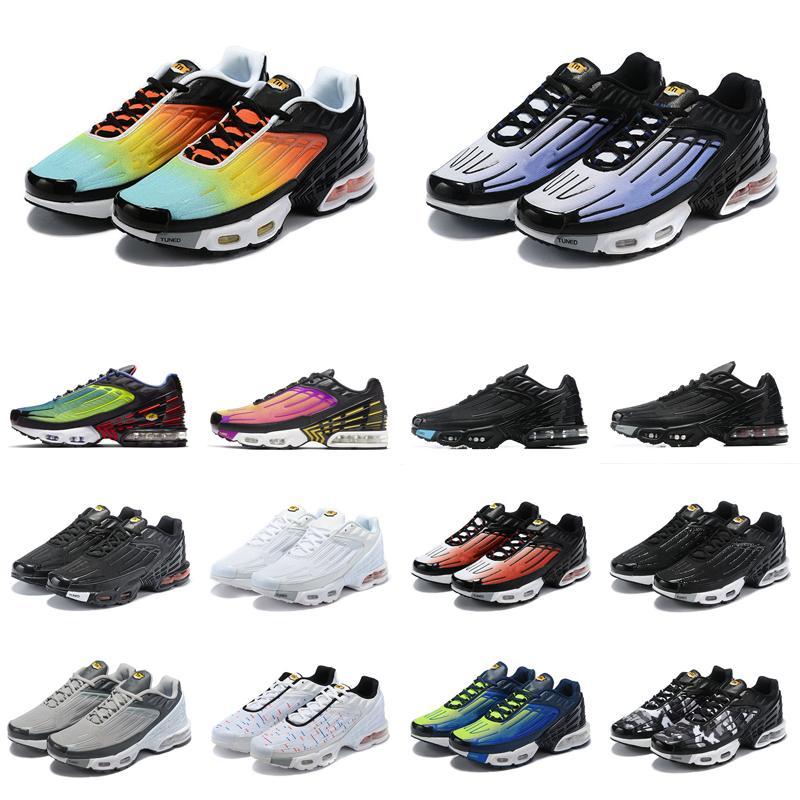 nike air max plus vapormax Tn 3 Além disso TN 3 Virou Running Shoes Hiper azul violeta Parachute Preto Vermelho Volt TN III das mulheres dos homens cinzentos Mais de Formadores