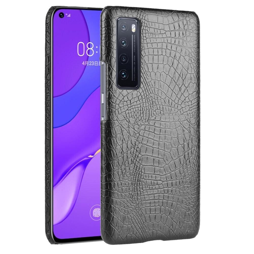 Huawei Nova 7 Darbeye Timsah Doku PC + PU Kılıf için