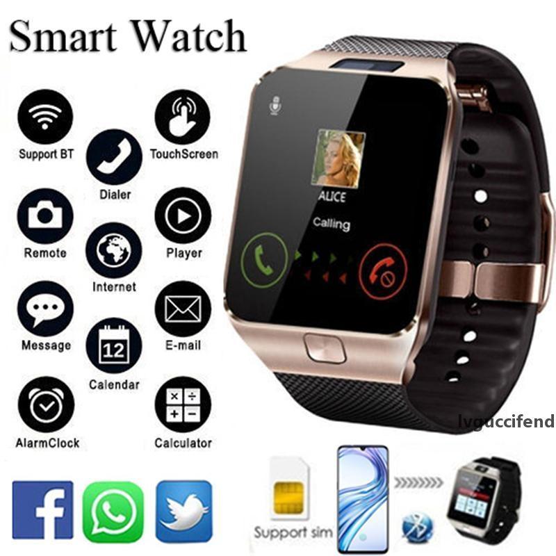 dz09 Bluetooth androïde montre intelligente avec caméra horloge SIM slot TF montres intelligentes Wearable Devices Téléphone mobile intelligent SmartWatch