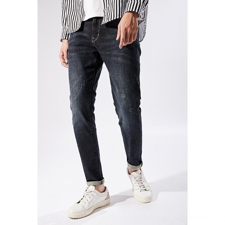 Casual Strecke Sommer dünne Art und Weise fit und beiläufige Stretch-Hosen Sommer Art und Weise der Männer slim fit Hosen und Jeans Jeans Herren-tHK1g