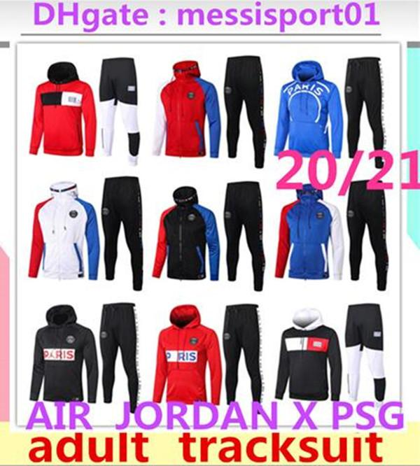 2019 20 Sweat à capuche PSG Paris 2019 2020 Psg AIR jordan survêtement de football champion MBAPPE Hoodie survetement 2019/20 psg