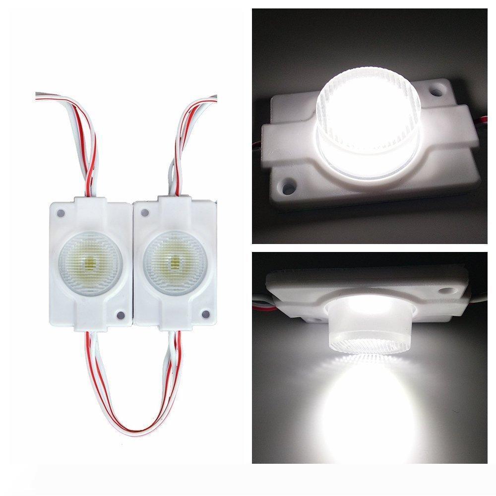 Led haute puissance 2W côté module d'éclairage Led Lampes 1 Led Module injection Objectif super luminosité Letterbox Logo