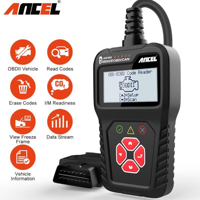 Ancel AS100 OBD2 Scanner Automotriz Diagnose lesen Löschen Erase Codes Werkzeug-Fachmann OBD 2 Automobilscanner PK ELM327 V1.5