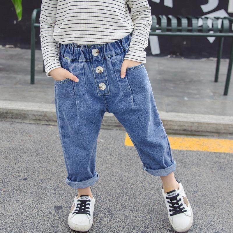 X7XtB Girls- Jeans pantsWide Beinhosen breite Bein pants2020 Frühling und Herbst der neuen koreanischen Stil Kinder lose Jeans Frühlingskleidung des Babys Wir