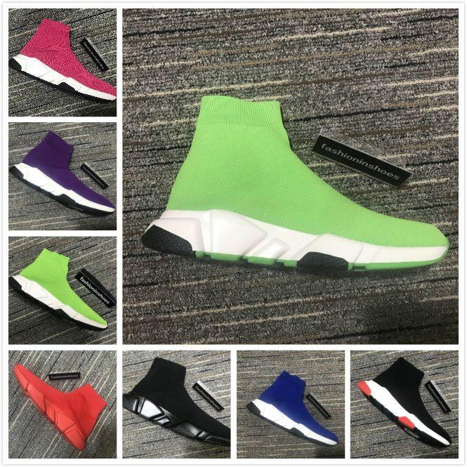 zapatos de diseñador velocidad de la parte superior del entrenador de zapatillas de deporte zapatillas de zapatillas de zapatillas de deporte de los hombres elastic de la velocidad al aire libre Casual Pisos zapatos 35-45 Speed Trainer CC mujeres
