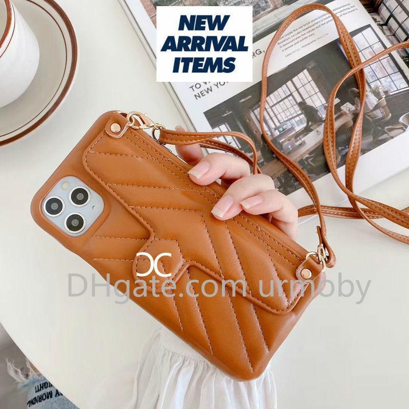 Per l'iphone 11 casi di telefono del progettista con CC Card Case borsa tasca per iphone X XR XS MAX 7 8 PLUS