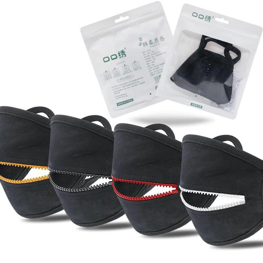 Moda Fermuar Tasarımı Yüz Yıkanabilir Yeniden kullanılabilir Bisiklet Koruyucu Yetişkin toz geçirmez Nefes Spor DDA270 Maske Maske