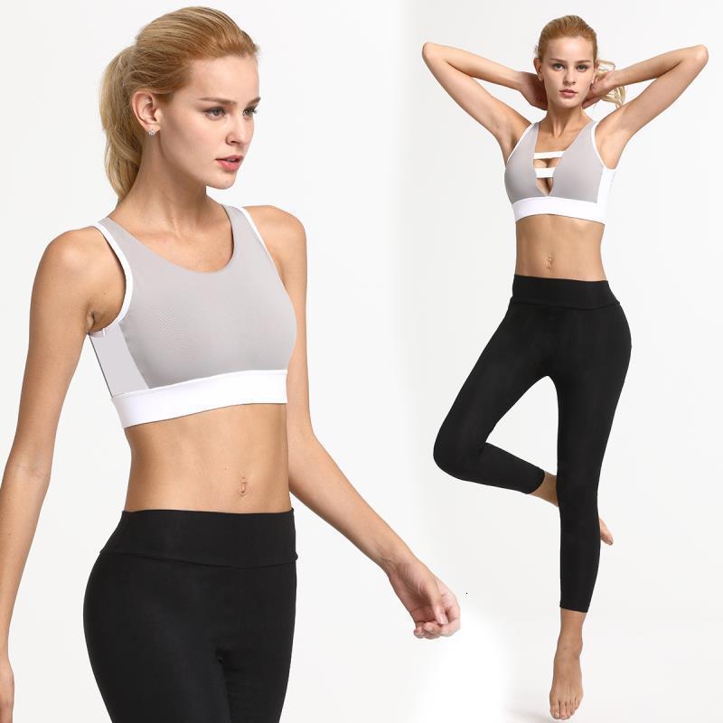 Donna traspirante professionale Yoga Vest Bras Mesh antiurto Athletic Gym Sport che fanno funzionare senza saldatura fitness Bra Sport Underwear