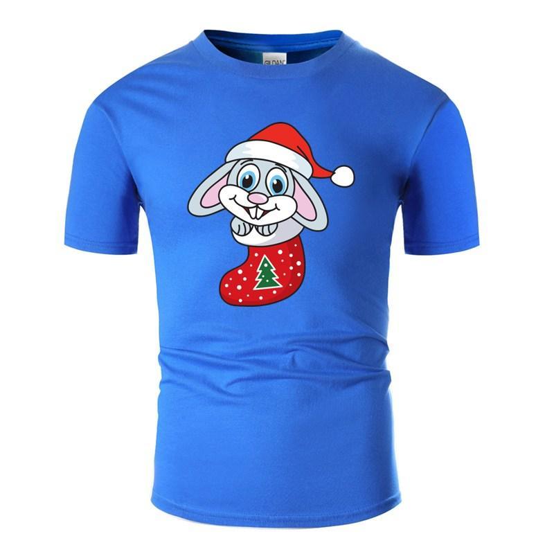 Meias Xmas Doces doces do Natal Verão T-shirt para homens Anti-rugas Branco Homens e mulheres T-shirts Pop Top Tee Socks