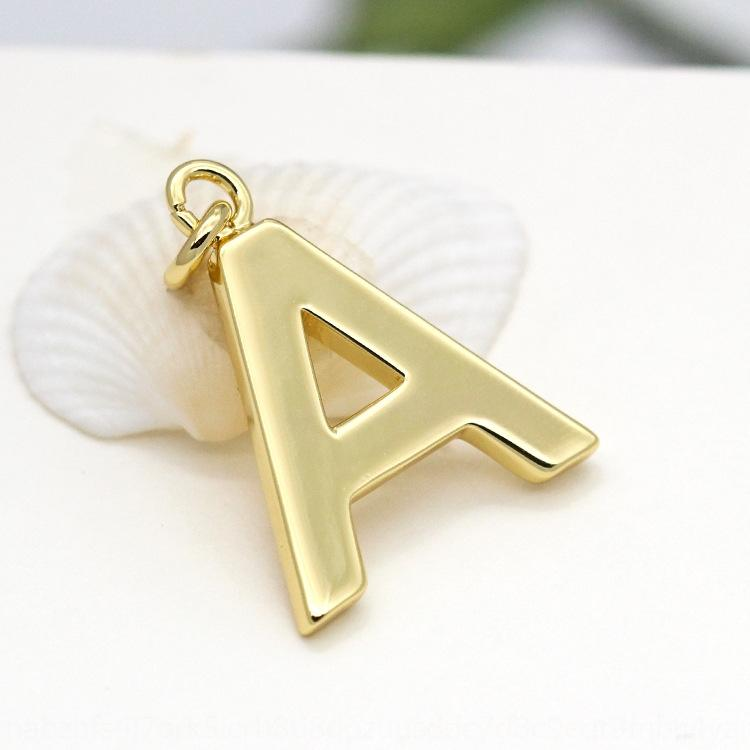 accessoires grand 18K diy or véritable 26 lettre Diy Pendentif chaîne de chandail coréenne boucles d'oreilles faits à la main matériel