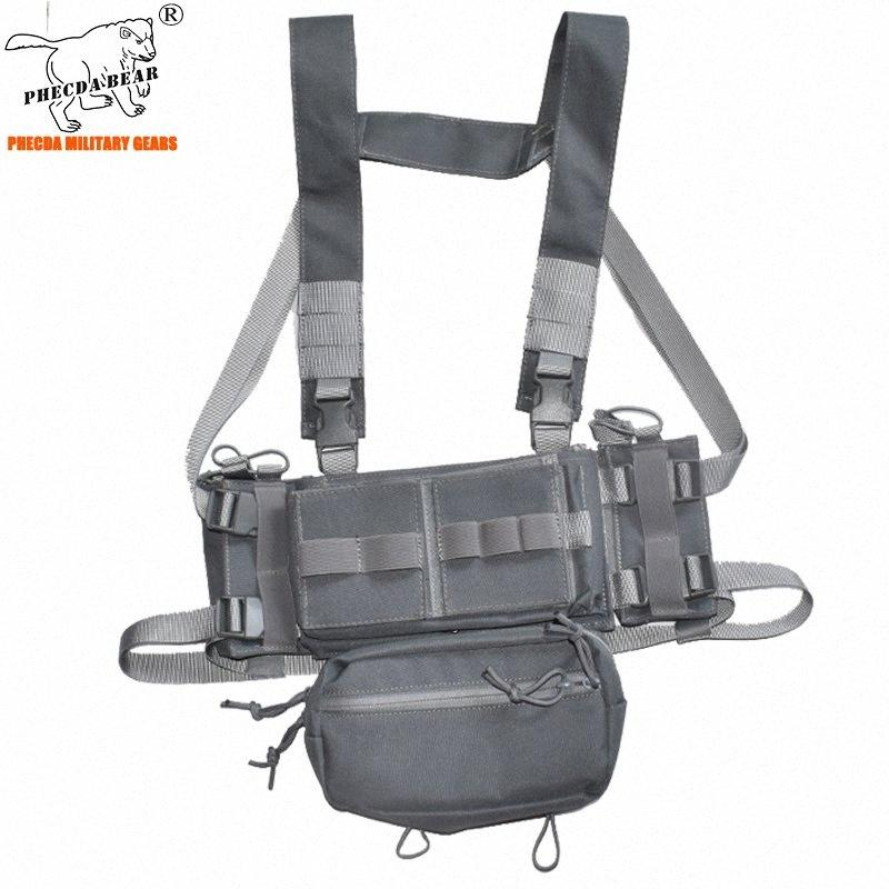summer war game combat chest rig with ammo pouch adjustable size 3 paintball vest army tactical TVnt#