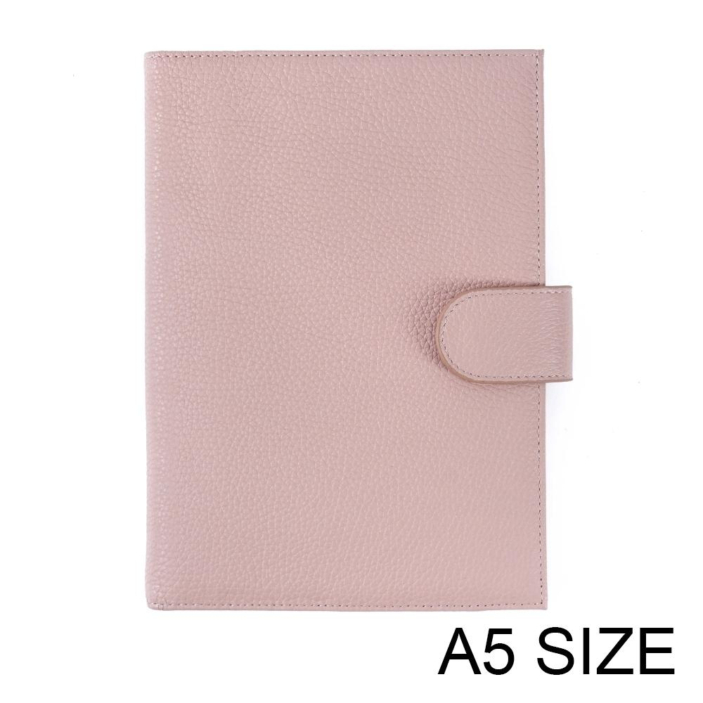 New Arrival Genuine Litchi Grain Cowhide Leather A5notebook Diary planner journal Stationery notepad Agenda Organizer Big Pocket T200727