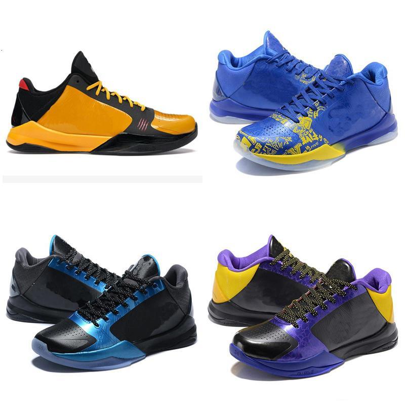 Mamba 5 Protro Chaos Mens scarpe da basket 5s V Lakers Dark Knight Viola De nero Prelude Anelli progettista di sport formatori degli uomini scarpe da ginnastica