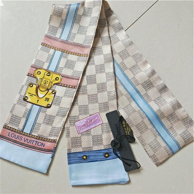 2020 бренд шелкового шарфа бренд мода волосы группа шарф мода сумка шелк группа имитация мужских женской маленькая лента 120 * 8 см D2221