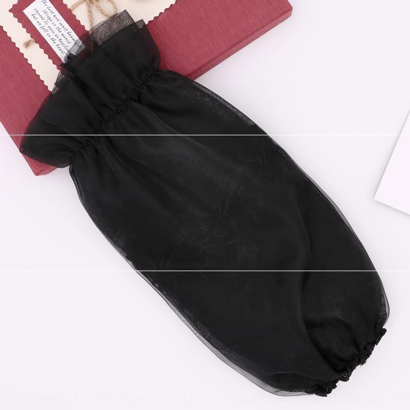 oPFJ1 Manchettes bureau de style coréen maison antisalissure à long automne et en hiver manches en dentelle de coton double couche anti-poussière lac boutique femmes