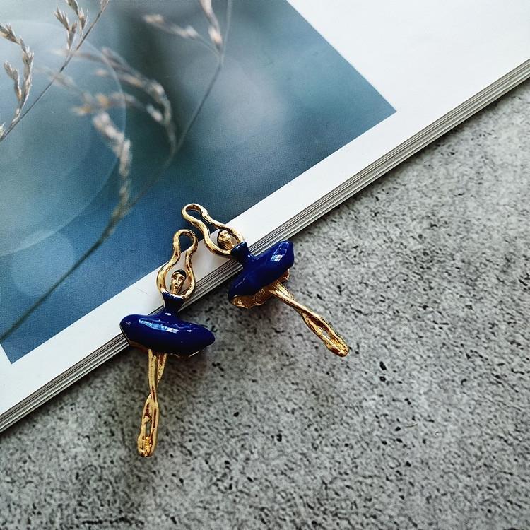 ujvnI корейского стиля сплав Diy серьга серьга серьга капает масло девушки балета ручной работы серьгу ушной уху булавку DIY материал персонализированной