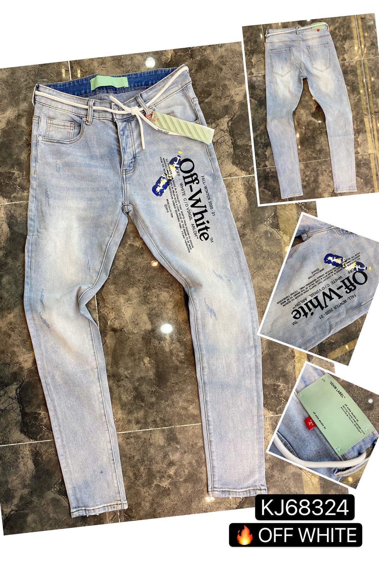 toptan 2020 Yeni Erkek Sıkıntılı Biker Jeans Slim Fit Biker Motosiklet Denim İçin Erkekler Moda Hip Hop Erkek Jeans ~~ AE36 Ripped