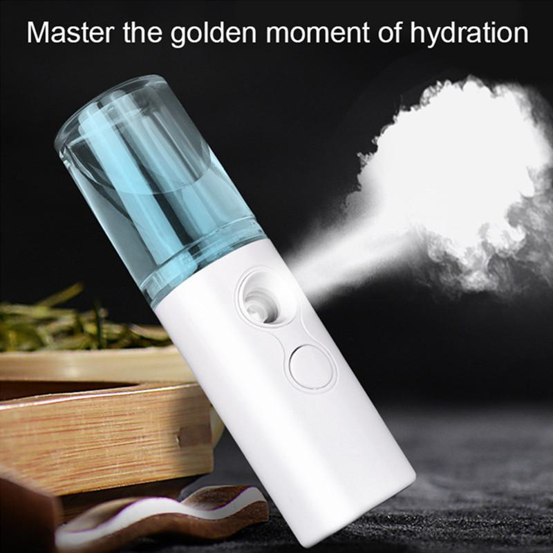 Nano de cara humidificador de vapor pulverizador portátil USB mini portátil de Verano de Moisturing facial al vapor fabricante de la niebla nebulizador de belleza cuidado de la piel Herramientas