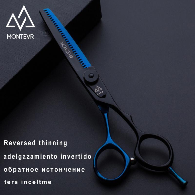 Montevr 6,0 Zoll professionelle Haarschere in umgekehrtem Blatt 30 Zähne Friseur Friseurscheren