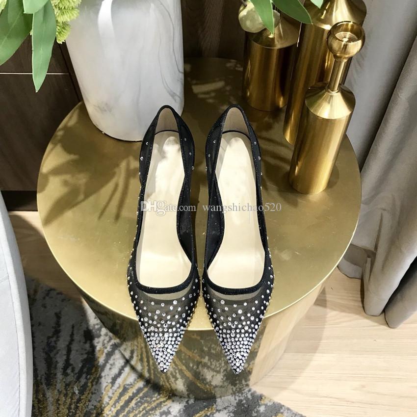 Großhandel neue reizvolle Stilett-hohe Absätze, zurück Ring, spitze Zehe Schuhe der Frauen, arbeiten hohe Absätze, geeignet für Frauen Büro Kleidung Schuhe