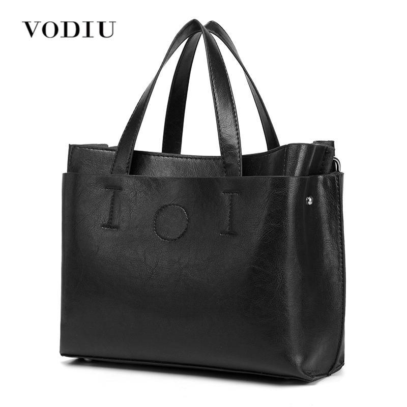 Sac à bandoulière Messenger sac à main de femmes Plus de Tote Big Sling Designer en cuir noir Femme Bolsas Top-femmes Crossbody sacs poignée