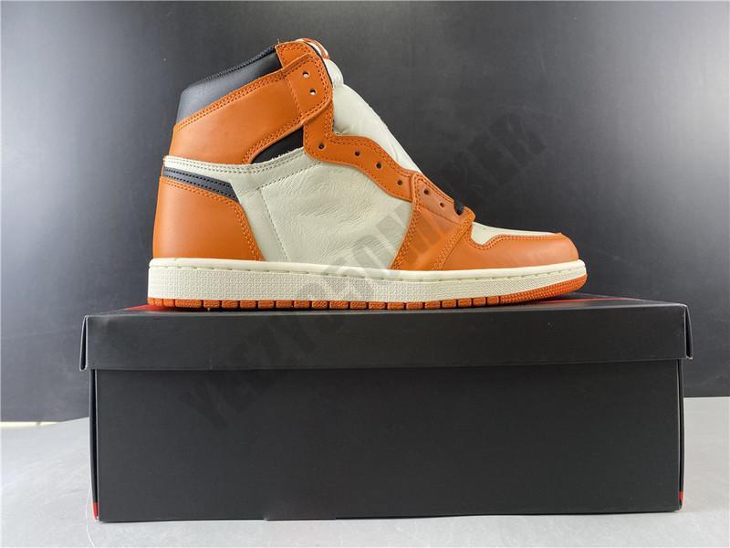 Arkalık 1 1s OG Yüksek Basketbol Erkek Basketbol Ayakkabı 555088-113 Atletik Spor ayakkabılar Boyut Kutusu Yüksek Shattered ters ile 40,5-46
