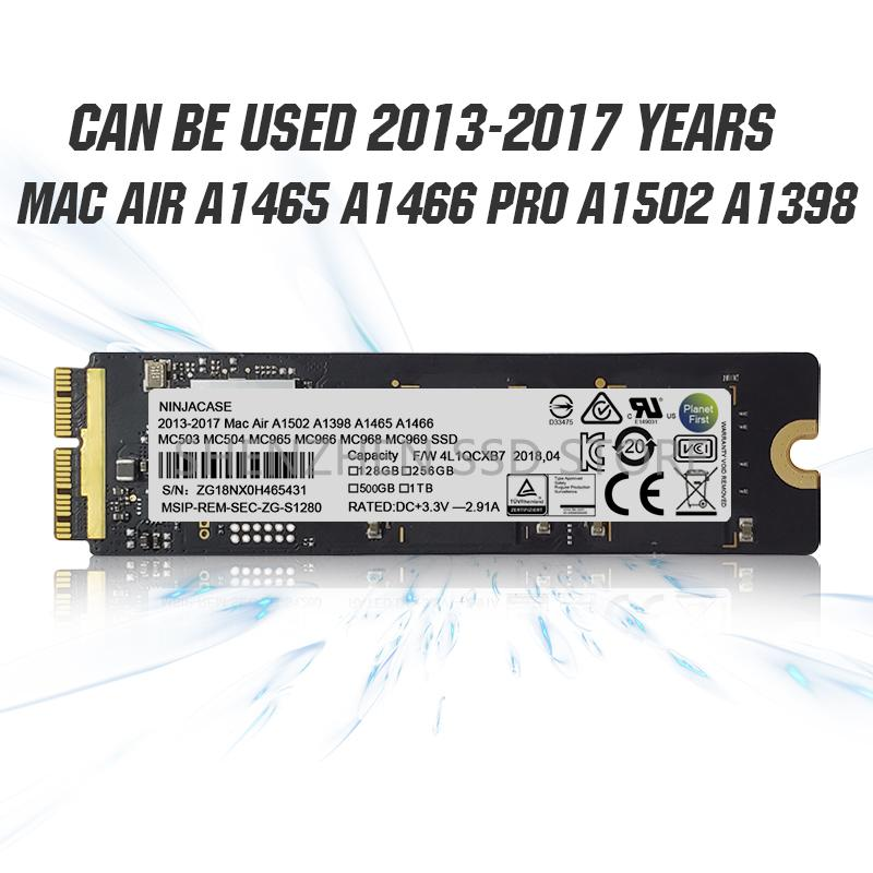 NEW128GB 256GB SSD da 512GB Solid State Drive per MacBook Air A1465 A1466 EMC2631 2632 2924 2925 iMac A1418 A1419 Aggiornamento