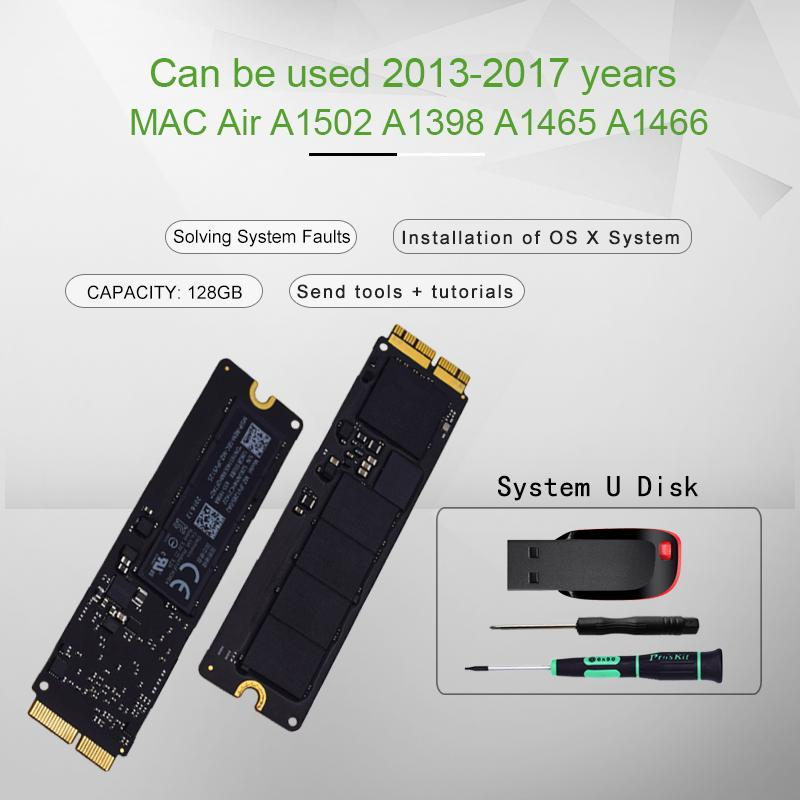 Original 128GB SSD Para 2013 2014 2015 Macbook Pro Retina A1502 A1398 Air A1465 A1466 sólido SSD Estado Disk MAC