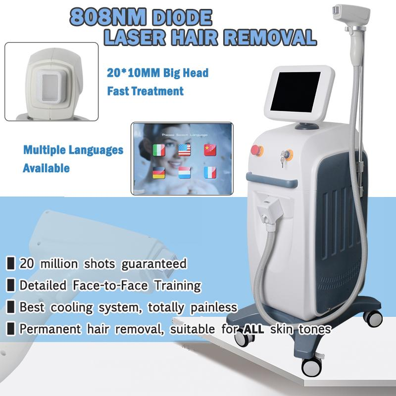 Painless Diode Laser Hair Removal Machine For Man Permanent Hair