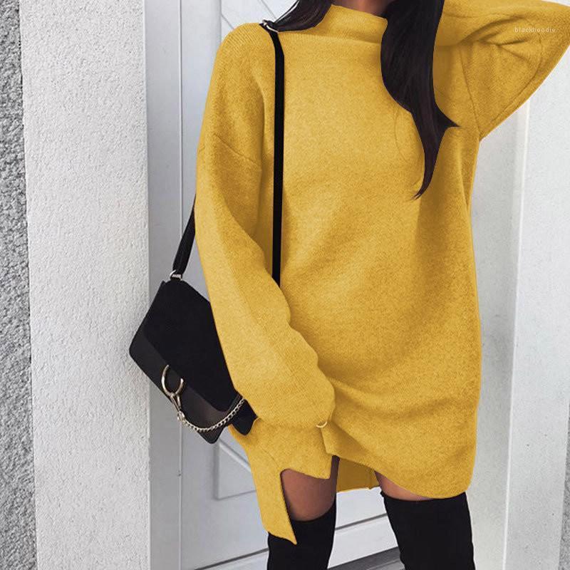 Bel Elbise Kadın Kış Bayan Artı boyutu Giyim dizayn edilmiş elbiseler Kaplumbağa Boyun Elbiseler Katı Renk Doğal