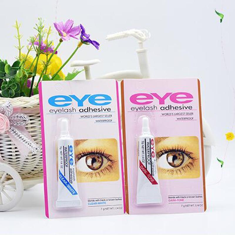 أحدث ماكياج العين لاش الغراء أسود أبيض لاصق مقاوم للماء الرموش الصناعية المواد اللاصقة الغراء الأبيض والأسود DHL المتاحة