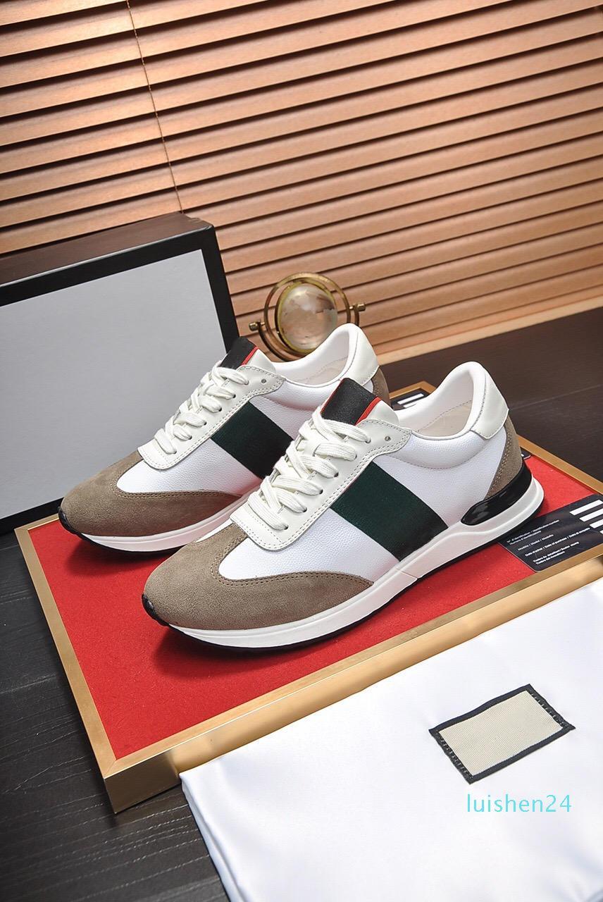 Top qualité Stripe New Designer Shoes Blanc ACE brodé Hommes Femmes Véritable Designer en cuir rouge en bas Chaussures Casual size38-45L24