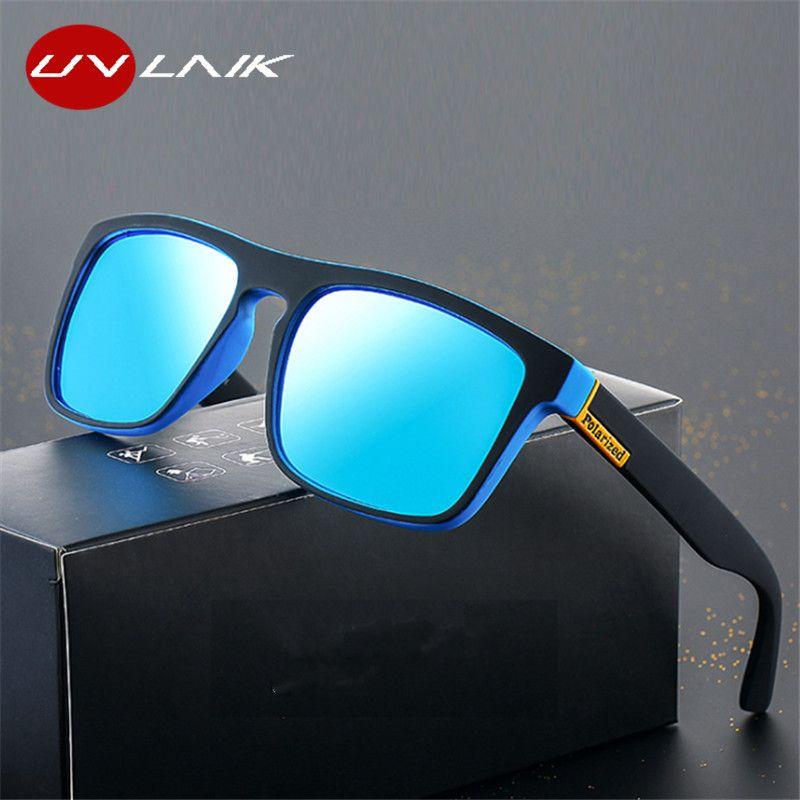 UVLAIK moda gafas de sol polarizadas diseñador de los hombres de la vendimia de conducción al aire libre Gafas de sol Gafas de Sombra UV400 Eyewear