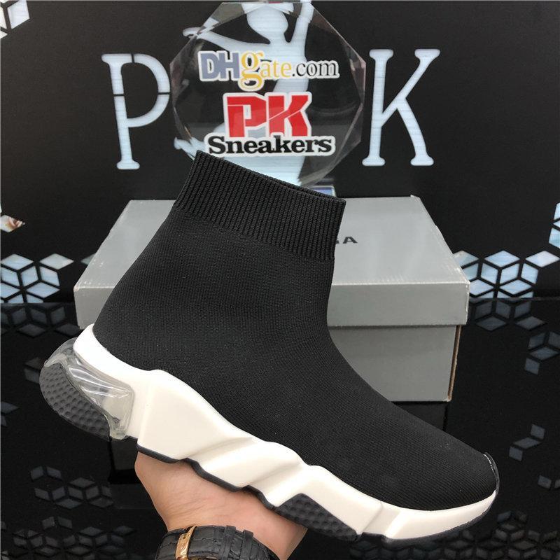 PK Nouvelle arrivée Sock pour Hommes Femmes Luxe Fashion Designer Speed Triple Formateurs Chaussures Rouge Noir Volt bâton Brown Chaussures Hommes Casual