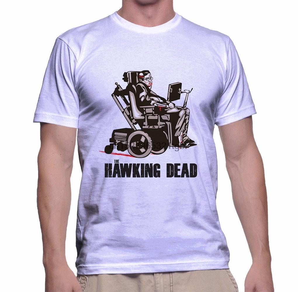 Hawking Tote (Stephen Hawking) T-Shirt Größe S-3XL Weiß Billig Verkauf 100% Baumwoll-T-Shirt für Jungen Short Sleeve Marke