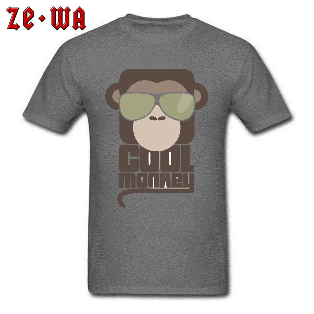 Funny T-shirt Cool Monkey Tops Men Cartoon T Shirts Letter Tees Cotton Tshirt Glasses Gorilla Simple Style Sweatshirts Rife Grey