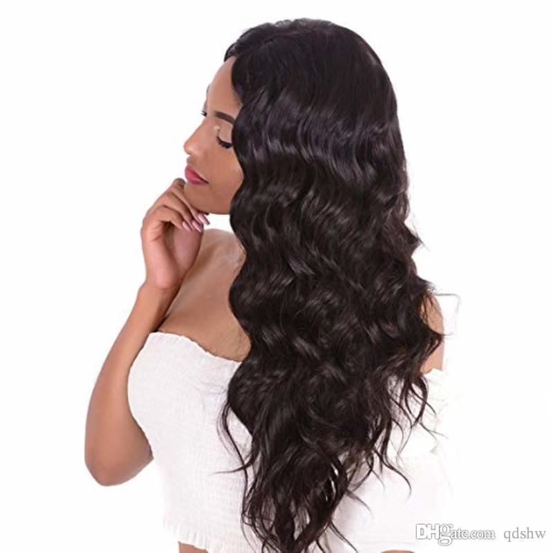 Afrikalı Amerikalı Tam Dantel Peruk Islak Ve Dalgalı Doğal Siyah 130 Yoğunluk Brezilyalı Virgin Saç Dantel Açık Peruk Doğal Saç Çizgisi